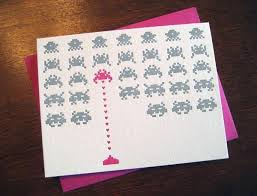 space invaders greeting card for your geek girlfriend gadgetsin