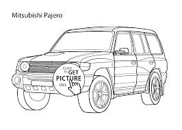 super car mitsubishi pajero coloring page cool car printable free
