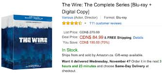 amazon all free shipping in black friday amazon canada black friday deals of the day save 70 on the wire