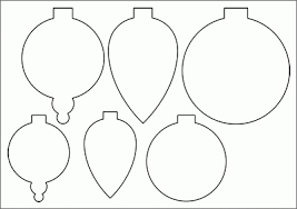 ornament cut out template template business