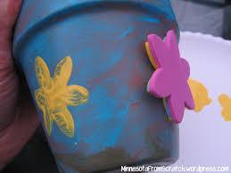 painted flower pot craft minnesotafromscratch