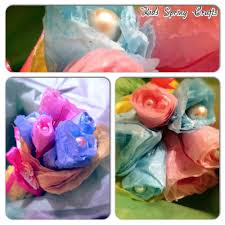kids spring crafts u2013 tissue paper flower bouquets mummy of many
