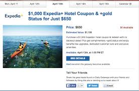 daily getaways 350 at expedia gold status deals we like