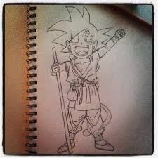 son goku sketch by veradun on deviantart