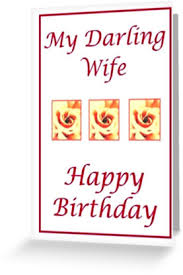 large print happy birthday darling wife