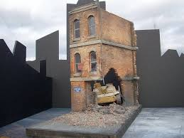 3 story building dioramas plus 1 35 brick ruins ruined 3 story building section