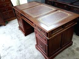 Office Desk Leather Top Office Desk Office Desk Leather Top Pedestal Writing Green