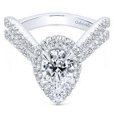 diamonds rings com images Pear shaped engagement rings pear cut diamond rings gabriel co jpg