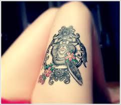 cute thigh tattoos for girls