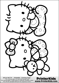 5 images cute nerdy kitty printable coloring pages