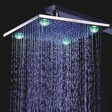 8 10 or 12 wall mount led shower