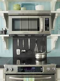 over the range microwave cabinet ideas open storage ideas better homes gardens