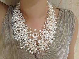 pearl necklace wedding images 30 layers wedding pearl necklace starriness floating freshwater jpg