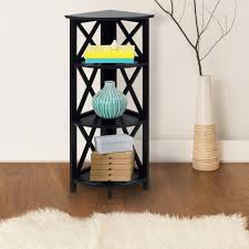 south shore axess 4 shelf bookcase in pure black 7270767c the