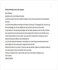 software developer cover letter examples