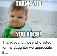 Meme Thank You - 25 best memes about thank you you rock thank you you rock memes