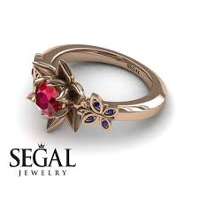 lotus engagement ring the lotus cocktail ring ruby ring kaitlyn no 5 segal jewelry