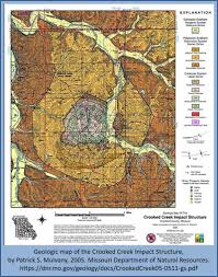 United States Fault Lines Map by United States Meteorite Impact Craters Crooked Creek Crater