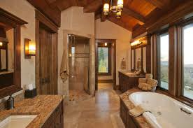 contemporary rustic master bathroom designs modern double sink in