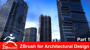 zbrush tutorial zbrush for architectural design part 1 youtube