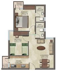 2 bhk 808 sq ft apartment for sale in wave dream homes at rs