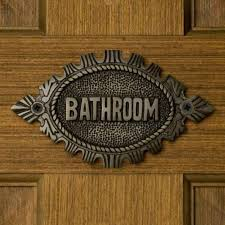 signs closet sign bathroom roselawnlutheran solid brass no