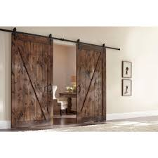 masonite 42 in x 84 in z bar knotty alder interior barn door