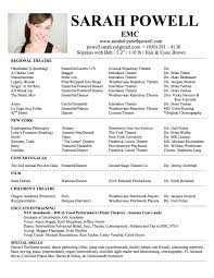 Blank Resumes To Fill In Sample Acting Resume Resume Templates For Beginners