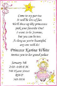 party invitation wording princess tea party invitations wording to invite to