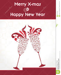 Happy New Year Invitation Creative Happy New Year 2014 Design With Champagne Glasses
