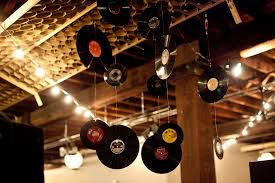 Music Party Theme Decorations Old Record Ceiling Decorations Julie Banner Event Design And Click