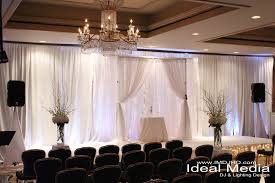 pipe and drape wedding white pipe and drape with uplighting string lights the ritz