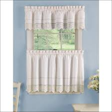 kitchen yellow and gray kitchen curtains waterfall valance red
