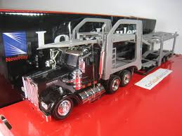 kenwood w900 kenworth w900 car trailer 1 43 new ray black carscaleworld