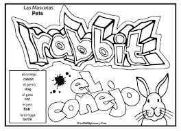 free spanish coloring pages alphabet letter worksheets numbers