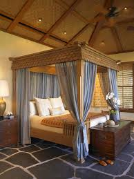 Bed Canopy Curtains Slanted Ceiling Bed Canopy Bedroom Tropical With Recessed Lighting