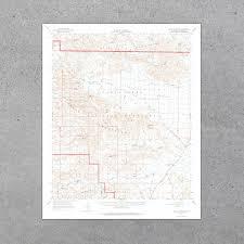 Joshua Tree Campground Map Joshua Tree National Park 1963 Usgs Map