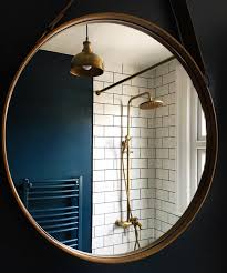 Farrow And Ball Bathroom Ideas Farrow And Ball U0027hague Blue U0027 Walls With Copper Pipes In Shower