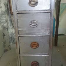 Chalk Paint On Metal Filing Cabinet How To Cover Your Furniture With Aluminum Foil Chalk Paint Meets