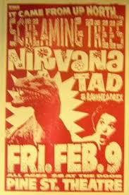 Nirvana Blind Pig Concertposterart Com Nirvana Screaming Trees 1990 Pine Street