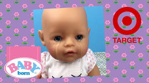 Baby Clothes Target Online Baby Born Interactive Crying And Eating Doll From Target Youtube