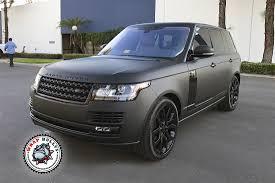 matte black matte black range rover car wrap wrap bullys