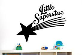 little supastar quote wall sticker vinyl wall decal for kids see larger image