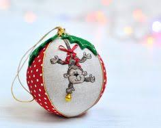 Baby S First Christmas Bauble Etsy by Christmas Rose Cross Stitch Pin Cushion Kit By Coleshillcollection