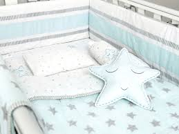 Complete Crib Bedding Sets Blue Organic Cot Baby Bedding Set