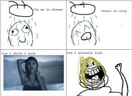 Meme Shower - funny rage comics singing in the shower meme rage comics