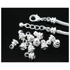 clasp bracelet charms images Silver tone replacement loop end for screw end lobster clasp jpg