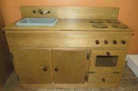 Kitchen Sink Play Kitchen Sink Stove Oven Amish Handmade Wood Play Furnite Oak