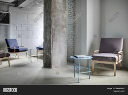Concrete Loft Work Zone In The Office In A Loft Style With A Concrete Column And