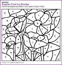 poppies color number kids korner biblewise